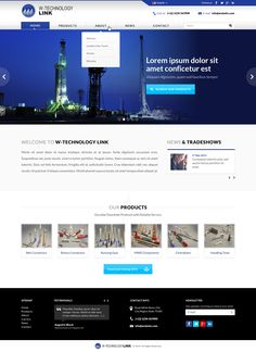 Need a sleek website design for an Oil & Gas Service Company