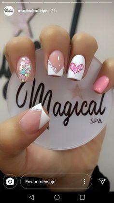 Cute Toe Nails, Cute Acrylic Nails, Pretty Nails, Pink Nails, My Nails, Romantic Nails, Valentine's Day Nail Designs, Minimalist Nails, Neutral Nails