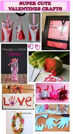 •❈• Super Cute DIY Valentines Crafts #kidsactivities #CelebrateValentinesDay
