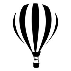 Hot Air Balloon Striped Silhouette Free Clip Art ❤ liked on Polyvore