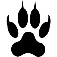 lion paw print silhouette clip art download free versions of the rh pinterest com Animal Tracks Clip Art Coyote Tracks Clip Art
