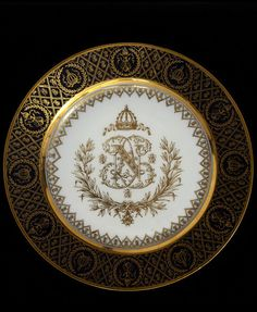 Porcelain and Gilded Plate | Sèvres, France | 19th century, Victoria & Albert Museum Collection, London.
