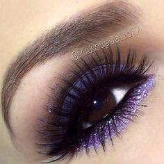 Pumped for purple eye makeup. Kiss Makeup, Hair Makeup, Makeup Tips, Beauty Makeup, Makeup Ideas, Makeup Stuff, Makeup Tutorials, Glamour Makeup, Purple Eye Makeup