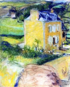 Villa at Saint-Jacut-1909 by Edouard Vuillard