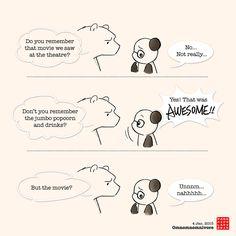 Hello, my name is Panda, I'm a food addict. Cute Panda Cartoon, Polar Bear Cartoon, Polar Bear Drawing, Cute Couple Cartoon, Panda Hug, Baby Panda Bears, Panda Love, Love Bear, Funny True Quotes