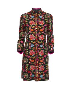 #irisapfel Gardenia Hand Embroidered Silk Kurta Coat £1,324 by Surekha Jain at COUTURELAB