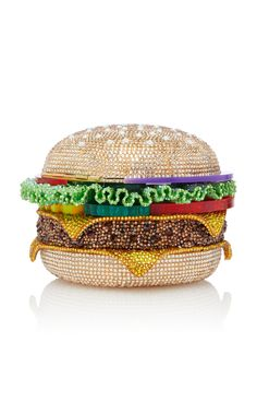 Crystal-Embellished Hamburger Clutch by Judith Leiber Couture Unique Handbags, Unique Bags, Purses And Handbags, Judith Leiber, Novelty Bags, Girly, Vintage Purses, Vintage Hats, Fashion Bags
