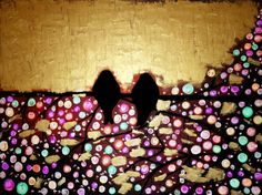 Love birds From the series ''All about love'' (Oil on canvas) (80cmx60cm)