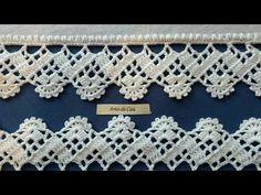 Crochet Edging Patterns, Crochet Pillow Pattern, Crochet Lace Edging, Crochet Borders, Hand Embroidery Patterns, Filet Crochet, Baby Knitting Patterns, Knitting Stitches, Chrochet