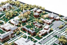 Paul Vermeeschrecently completed a two year commissioned model of Wheaton College. The 3'x4′ (0.9m x 1.2m) model has over 15,000 and will be housed in the campus admissions office. Tho…
