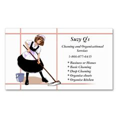 Maid Service Business Cards | Business cards and Business