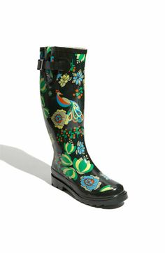 Rain, rain, come and stay!   Chooka 'Peacock Peace' Rain Boot by Nordstrom