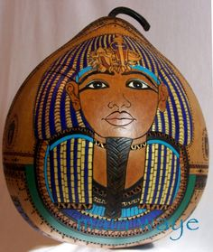 Tutankhamun with Scarab by maiaart on Etsy, $2100.00