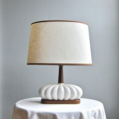 Mid Century Modern Table Lamp  White by BarkingSandsVintage