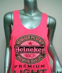 HEINEKEN Beer TShirt Women shirt Tank Tops Mini by DECORATIONS1980, $16.99