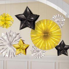 Colgantes preciosos para una decoración impactante, de www.fiestafacil.com - $13.95 / Lovely hanging decorations for a striking decoration, from www.fiestafacil.com
