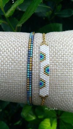 Miyuki bracelet,evil eye bracelet,beaded… - Top Of The World Dainty Bracelets, Dainty Jewelry, Beaded Jewelry, Handmade Jewelry, Colorful Bracelets, Jewelry Bracelets, Silver Jewelry, Bangles, Bead Loom Bracelets