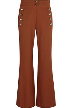 ChloéStretch-wool flared pants