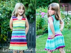 Anadiomena's Designs --Elena Nodel--Lollipops and Raindrops Dress (6m - 14 years)