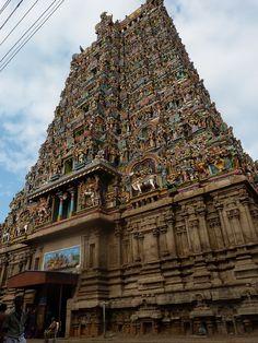 Meenakshi Temple - West Gopuram   Madurai, India...