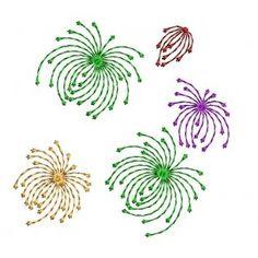 Abstract Firework Freebie Design