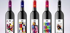 Des étiquettes de bouteilles de vin inspirées d'artistes connus