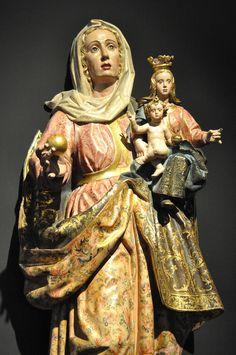 """Bernardo de Alcaraeta: Virgin and Child with Saint Anne (""""Santa Ana con la Virgen y el Niño"""", 1650, Catedral de El Salvador, Santo Domingo de la Calzada (La Rioja))"""