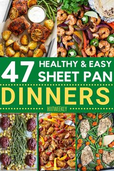 One sheet pan recipes are a great option for fast meals. These healthy sheet pan recipes are perfect for a quick and easy dinner. Healthy Recipes For Weight Loss, Clean Eating Recipes, Healthy Weight, Healthy Food, Healthy Dinner Recipes, Healthy Dinners, Fast Meals, Lunch Recipes, Honey Balsamic Chicken