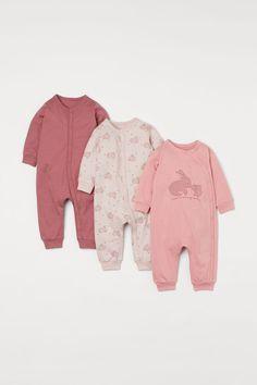 Cotton Pyjamas, Pajamas, Coton Bio, Backrest Pillow, Organic Cotton, Rompers, Jumpsuit With Sleeves, Pink, Onesies