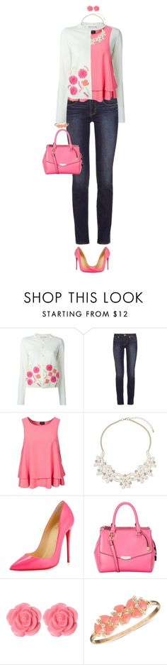 """""""Cardigan For Spring"""" by ittie-kittie on Polyvore featuring Comme des Garçons GIRL, Tory Burch, VILA, Dorothy Perkins, Christian Louboutin, Lipsy, Dollydagger, Anne Klein, cardigan and SpringStyle"""