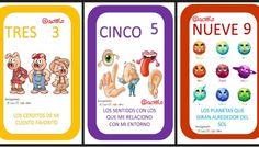 Preciosas cartas para aprender los números 1 - 10 jugando.