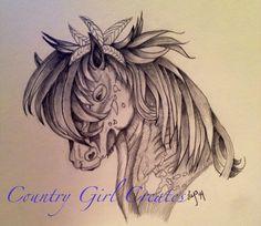 Native American horse sketch I did