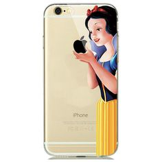 Cute Cartoon Touch Logo Design Soft Clear TPU Case Cover for fundas iPhone 7 PLUS 6 6s 5s 5 SE Snow White Mermaid Joker Pikachus