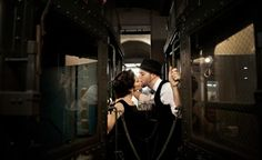 Vintage New York Train Engagement Shoot - another cute one, Sarah!