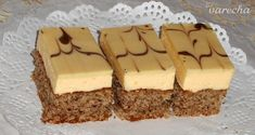 Biele orechové rezy (fotorecept) - recept | Varecha.sk Tiramisu, Rum, Cheesecake, Ethnic Recipes, Food, Basket, Meal, Cheesecakes, Essen