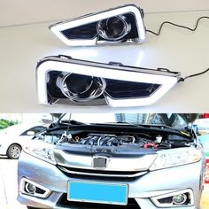 (113.99$)  Buy here - http://ai57l.worlditems.win/all/product.php?id=32796707811 - 1 Set Extreme Bright White LED Daytime Running Lights Lamps DRL Waterproof for HONDA CITY 2015-2017