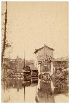 L'ancien moulin à Kaolin, Limoges, vers 1870-75. Jean-Baptiste Audiguet (1811-1897). Bfm Limoges