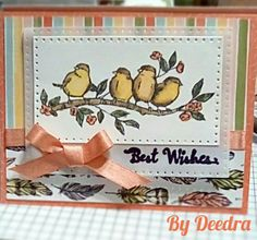 Stampin' Up! free as a bird, Bird Ballad suite Card Tags, I Card, Best Wishes Card, Bee Cards, Stampin Up Catalog, Color Card, Paper Crafts, Card Crafts, Flower Cards