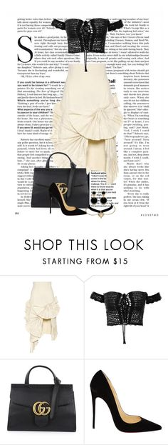 """""""Aaliyah"""" by ggmusicista on Polyvore featuring moda, Jacquemus, Gucci e Christian Louboutin"""