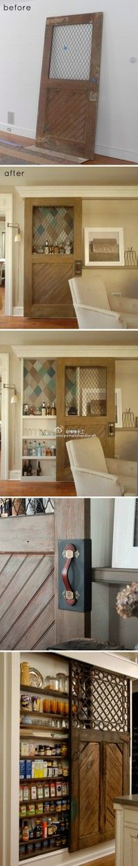 door becomes bar. or pantry
