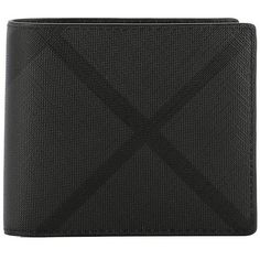 Grey Leather Wallet (780 BRL) ❤ liked on Polyvore featuring men's fashion, men's bags, men's wallets, grey, mens credit card holder wallet, mens leather credit card holder wallet and mens leather wallets