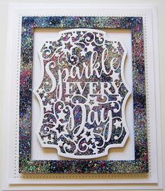 PartiCraft (Participate In Craft) Happy Everything, Dry Well, Sue Wilson, Paper Crafts, Diy Crafts, Holographic Glitter, Flag Decor, Create And Craft, Quilted Pillow