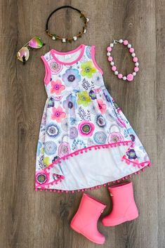 Shop cute kids clothes and accessories at Sparkle In Pink! With our variety of kids dresses, mommy + me clothes, and complete kids outfits, your child is going to love Sparkle In Pink! Little Girl Outfits, Cute Outfits For Kids, Little Girl Fashion, Toddler Outfits, Kids Fashion, Baby Outfits, Summer Dress Patterns, Baby Girl Dress Patterns, Toddler Summer Dresses