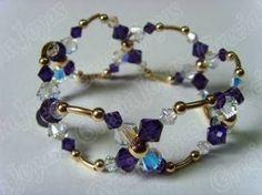 Resultado de imagen para pulseras de cristal swarovski con oro
