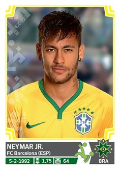 224 Neymar Jr - Brasil - Copa America Chile 2015 - PANINI