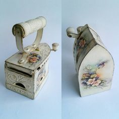 Mobili per decoupage – Recycled Furnitures Ideas Shabby Chic Antiques, Vintage Shabby Chic, Vintage Decor, Antique Iron, Vintage Iron, Diy Crafts For Gifts, Diy Home Crafts, Arts And Crafts Storage, Old Sewing Machines