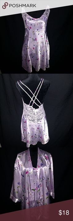 "Victoria Secretary Pink Lingerie with Jacket Dress lying flat: Bust 32""/80cm Waist 21""/ 78cm Length 23""/58cm Size Med 100% nylon  Robe one size fits most  Jade (mannequin)  Bust 34""  Shoulder 15"" Waist 26.7 Height without base 27""  Bust 86. 4cm Shoulder 38.1cm Waist 67.8cm Height without base 68.6cm Victoria's Secret Intimates & Sleepwear Chemises & Slips"