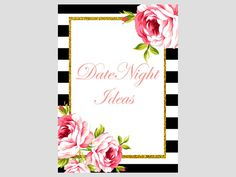 Date Night ideas card and sign date ideas by MagicalPrintable
