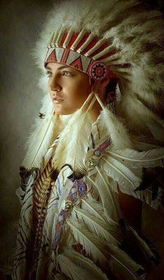 Indian women in headdress