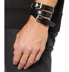 Balenciaga Wrapped Creased-Leather Bracelet | MR PORTER